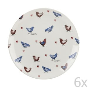 Sada 6 ks tanierov Churchill China Lovebirds, 20 cm