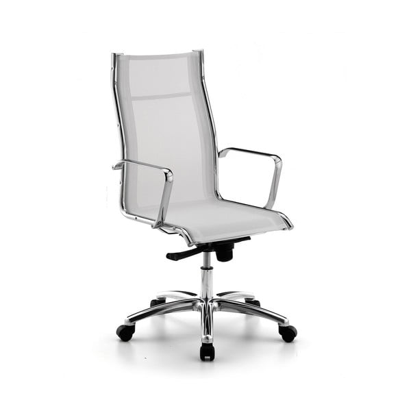 Biela kancelárska stolička s kolieskami Zago High Chrono