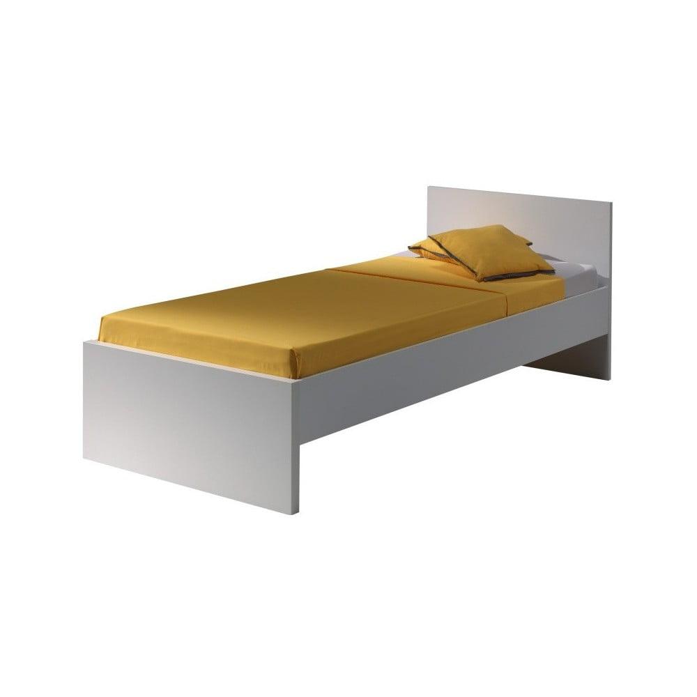 Biely rám postele Vipack Milan, 200 × 90 cm