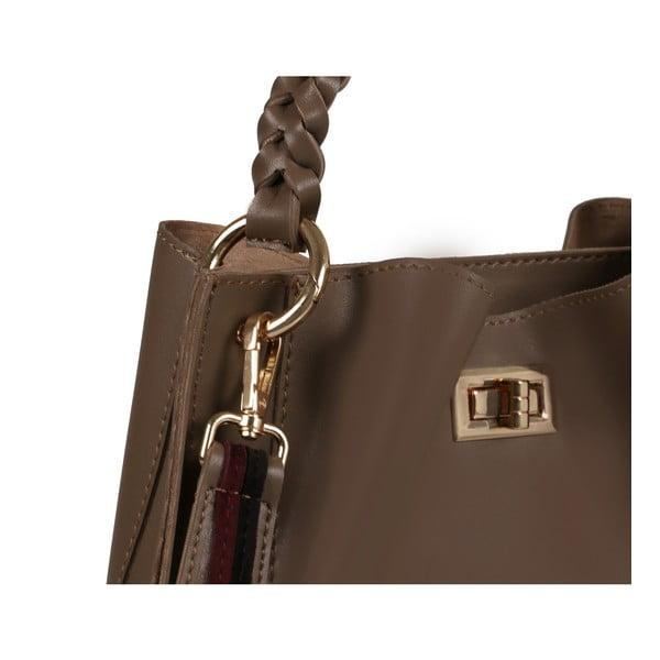 Norkovohnedá kožená kabelka Beverly Hills Polo Club Eliana