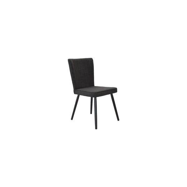 Sada 2 jedálenských stoličiek Nils, čierny poťah/čierne nohy