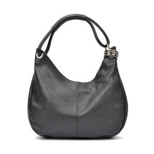 Čierna kožená kabelka Carla Ferreri Mona