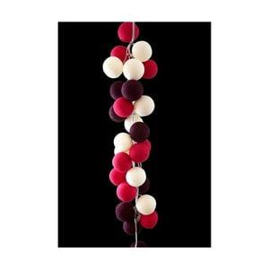 Svetelná reťaz Cherry Pop, 35 ks svetielok