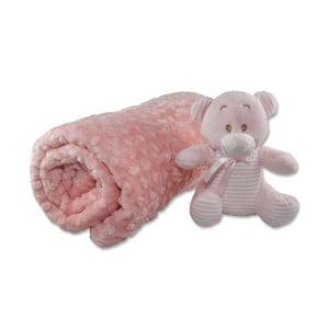 Bavlnená detská deka Aksu Pembe, 110×90 cm