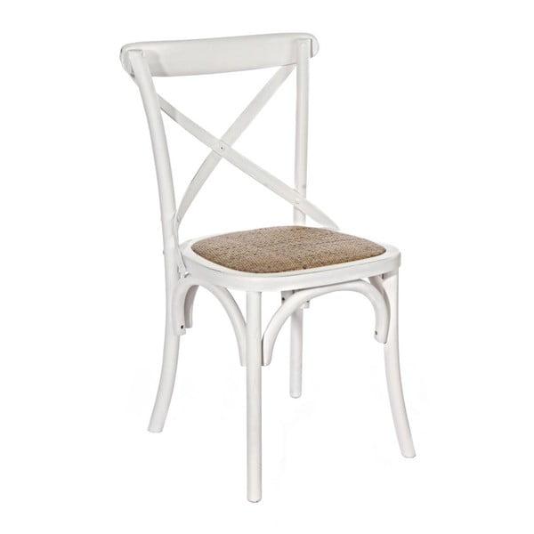 Biela jedálenská stolička Bizzotto Cross