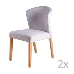 Sada 2 svetlosivých jedálenských stoličiek sømcasa Alina