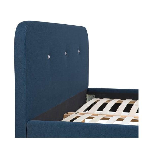 Posteľ Agnes, 200x180 cm, modrá