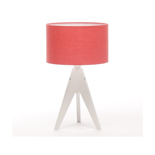 Stolná lampa Arist Cylinder Coral Red/White