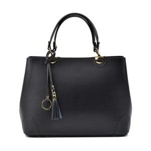 Čierna kožená kabelka Isabella Rhea Munda Nero