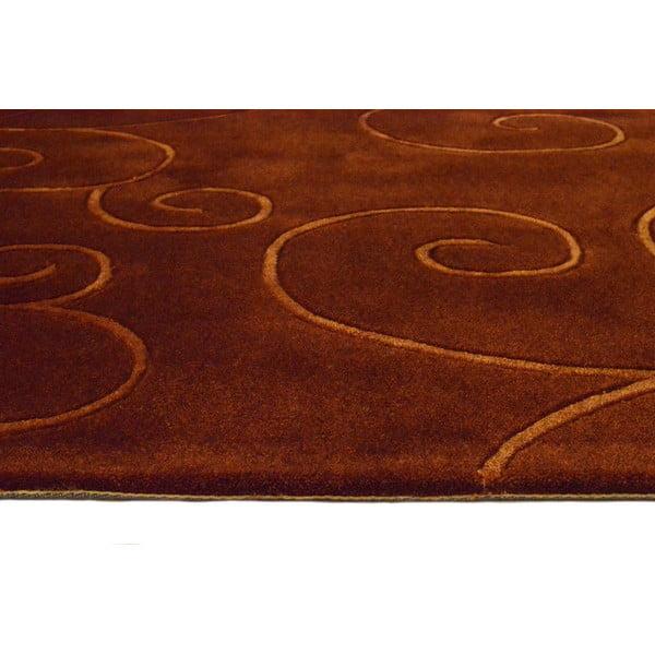 Ručne tkaný koberec Tufting, 120x180 cm, čokoládový