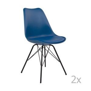 Sada 2 modrých stoličiek House Nordic Oslo