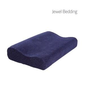 Tmavomodrý vankúš z pamäťovej peny s poťahom InnovaGoods Jewel Bedding