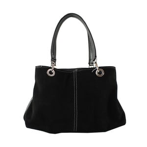 Čierna kožená kabelka Chicca Borse Westa