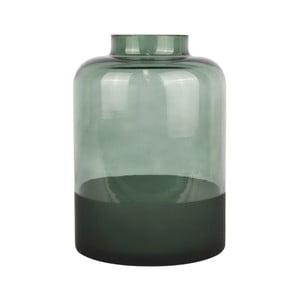 Zelená sklenená váza PT LIVING Majestic, výška 18 cm