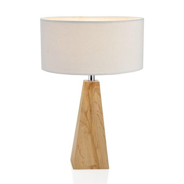 Drevená lampa Classy, biela