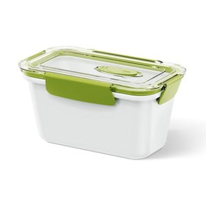 Krabička na potraviny Bento Box white/green, 0,9 l