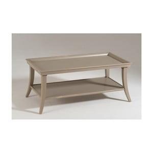 Béžový drevený konferenčný stolík Castagnetti