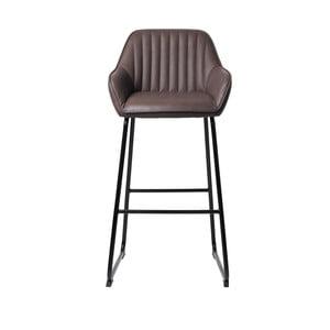 Kávovohnedá čalúnená barová stolička Unique Furniture Brooks