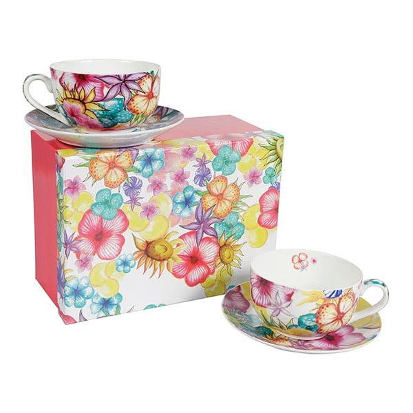 Sada 2 porcelánových hrnčekov Blooming Teacup