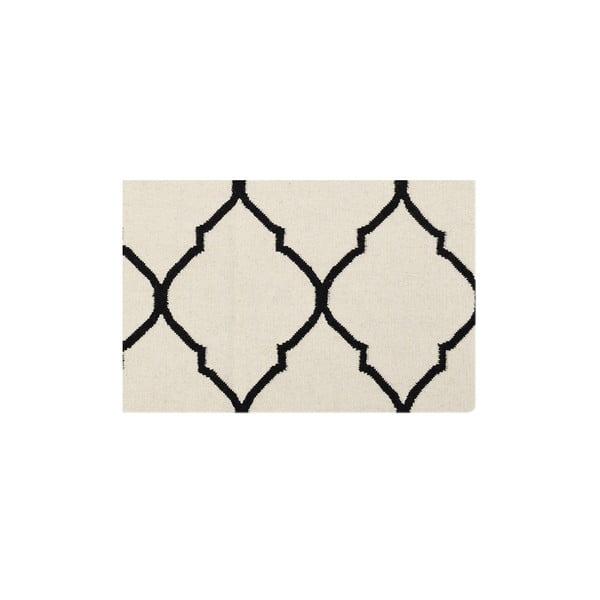 Vlnený koberec Caroline Ivory/Black, 155x240 cm