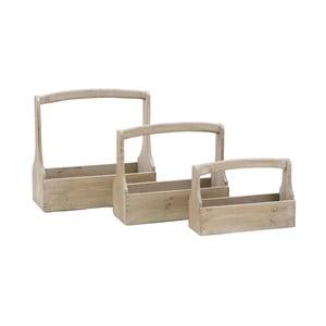 Sada 3 drevených prepraviek na náradie Ego Dekor
