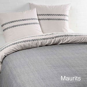 Sivé bavlnené obliečky na dvojlôžko Ekkelboom Maurits Grey, 200 x 200 cm
