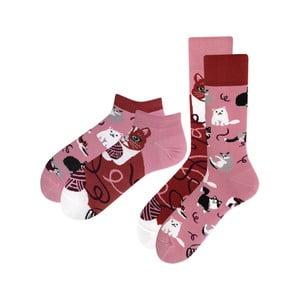 Sada 2 párov klasických a členkových ponožiek Many Mornings Playful Cat, veľ. 39-42