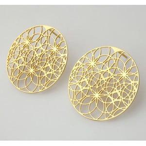 Náušnice od Kláry Šípkovej Náušnice vzor krajka 09, zlaté