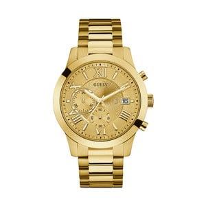 Pánske hodinky s antikoro remienkom v zlatej farbe Guess W0668G4