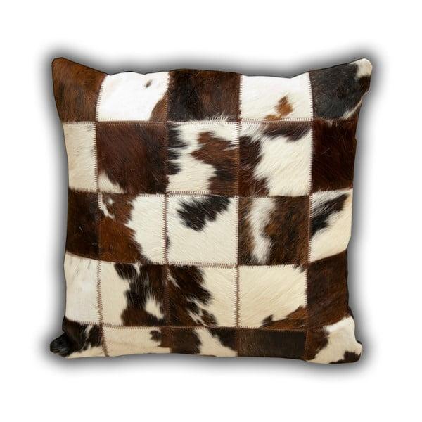 Vankúš z pravej kože Normand Cow, 45x45 cm