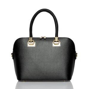 Čierna kožená kabelka Glorious Black Camilla ec9889c48b5