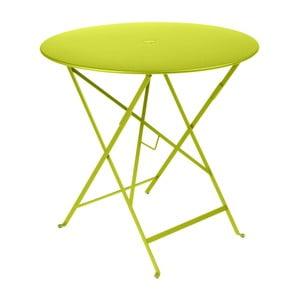 Svetlozelený záhradný stolík Fermob Bistro, ⌀ 77 cm