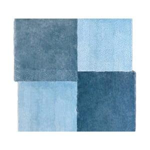 Modrý koberec EMKO Over Square, 200 x 207 cm