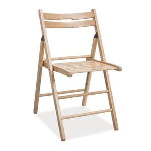 Skladacia stolička Smart, prírodná