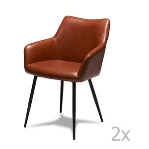 Sada 2 hnedých stoličiek Furnhouse Maria