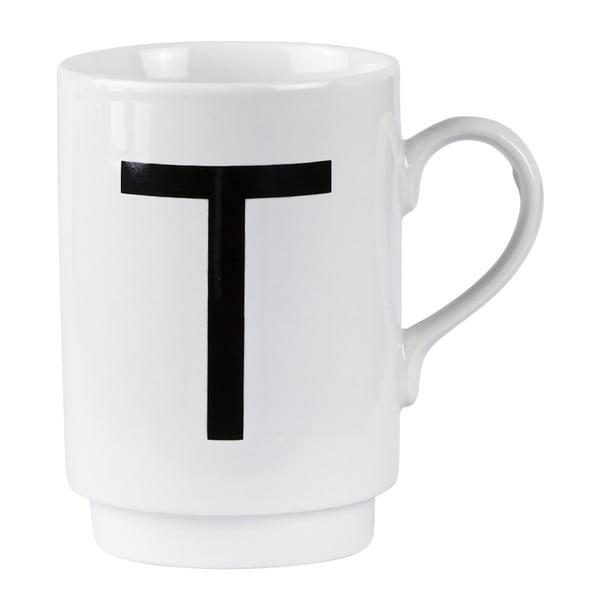 Porcelánový písmenkový hrnček T