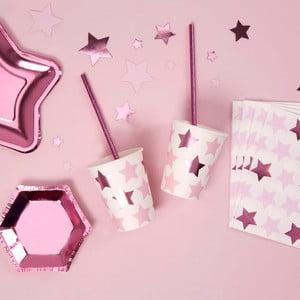 Sada 8 papierových pohárikov Neviti Little Star Pink