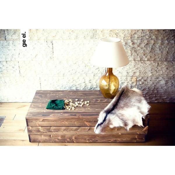 Sklenená stolová lampa, medová