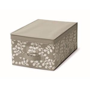 Hnedý uložný box s vrchnákom Cosatto Floral, 30 x 45 cm