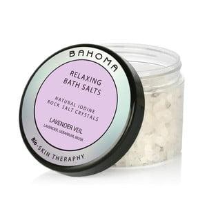 Kúpeľová soľ s vôňou ruže a ľalie Bahoma London Lavender Veil, 550 g