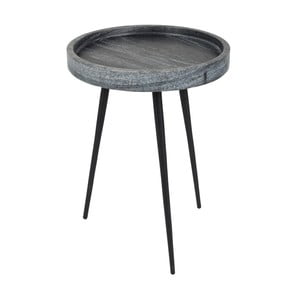 Odkladací stolík s doskou v dekore kameňa Zuiver, Ø 50 cm