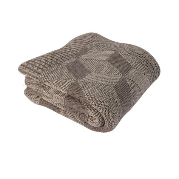 Hnedá bavlnená deka Clen