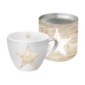 Porcelánový hrnček s vianočným motívom v darčekovom balení PPD Star Fashion Wood, 450 ml