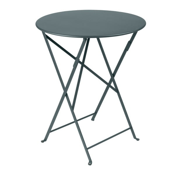 Tmavosivý skladací kovový stôl Fermob Bistro