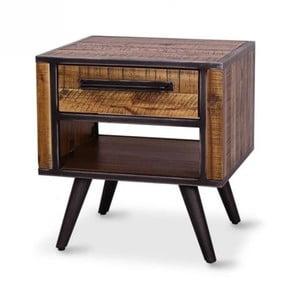 Nočný stolík z masívneho akáciového dreva Massive Home Robbie
