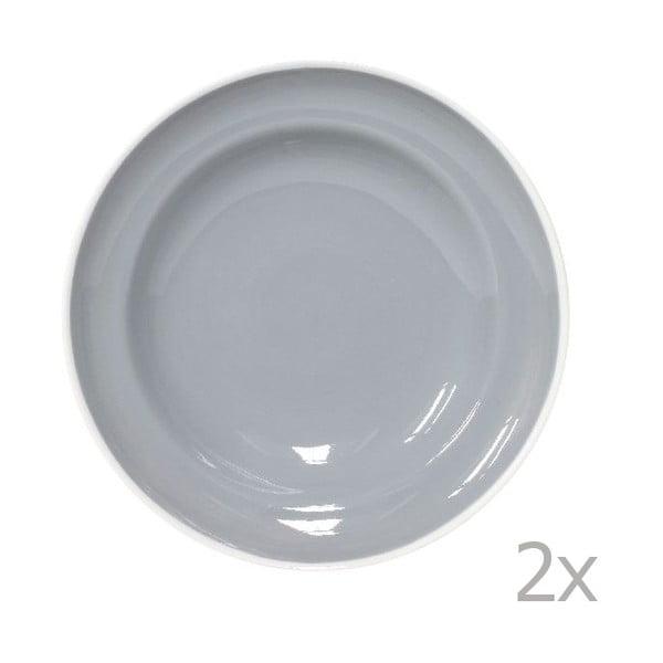 Sada 2 tanierov na cestoviny Puck 23 cm, sivá