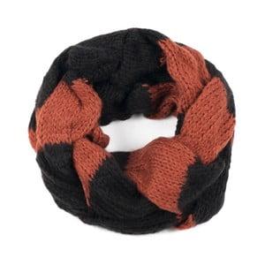 Čierno-oranžový dámsky šál Art of Polo Ruby