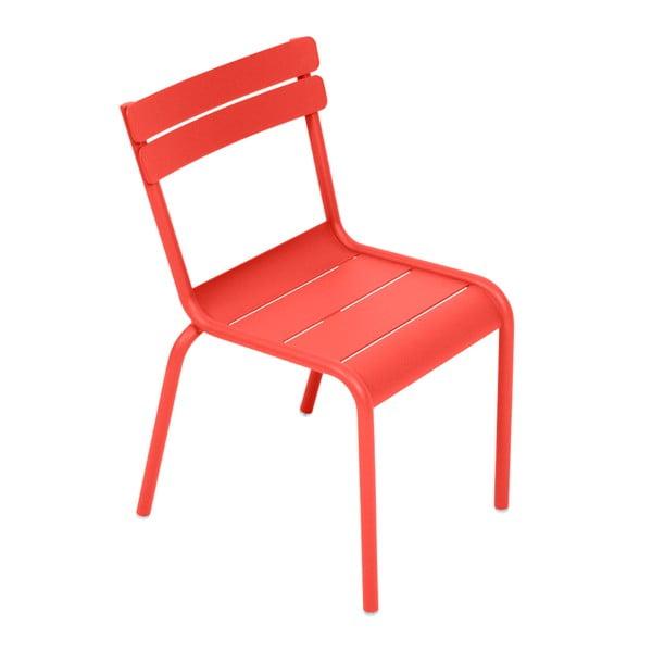 Oranžovočervená detská stolička Fermob Luxembourg