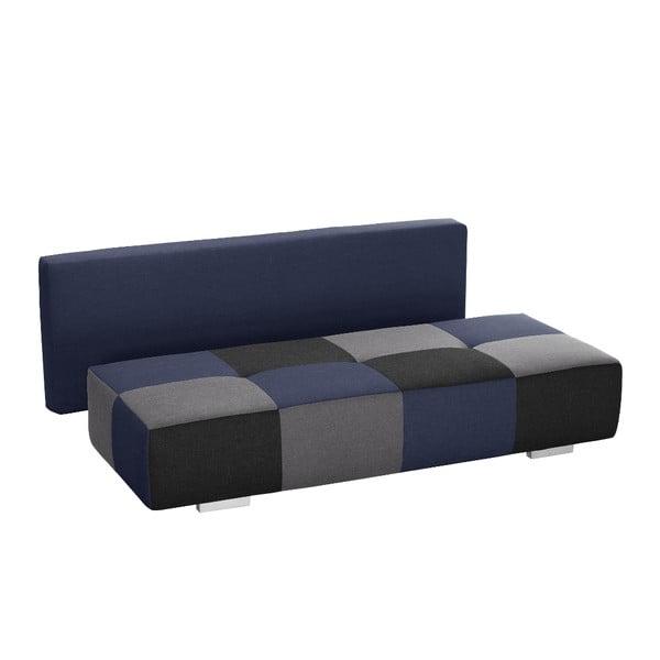 Modro-sivá rozkladacia pohovka Modernist Dandy
