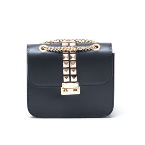 Kožená kabelka Alessa, čierna